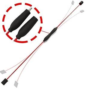 POWRX Schwingstab Schwungstab teilbar I Swing-Stick für Muskeltraining und Prävention I 2-teilig mit Schraubgewinde