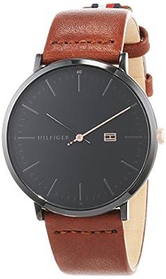 Tommy Hilfiger Reloj Analógico para Hombre de Cuarzo con Correa en Cuero 1791461