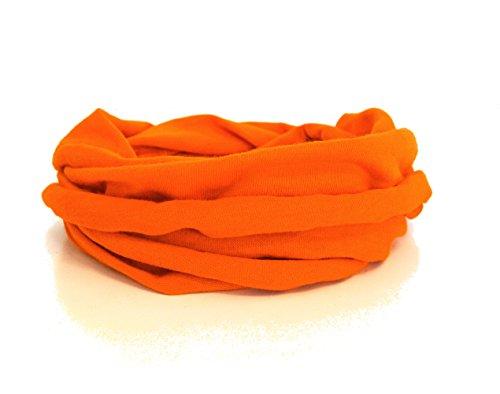 Andrea Traub - FASHION Kleinkinder und Baby - Loop zweifach gewickelt, uni orange, Kids Schlauchschal, Schal Tuch für Mädchen und Jungen