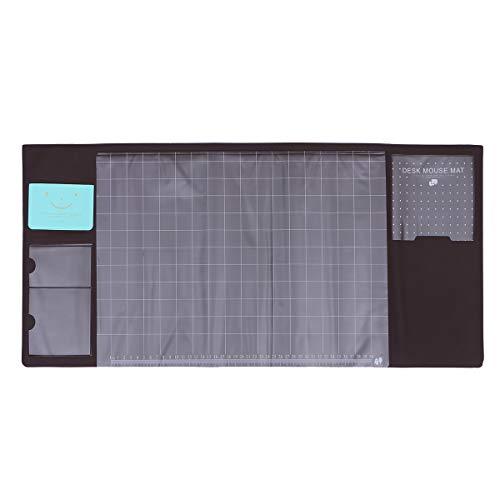 Uonlytech PVC wasserdicht Rutschfeste Größe Schreibtisch Computer Laptop Mauspad Schutzmatte (braun)