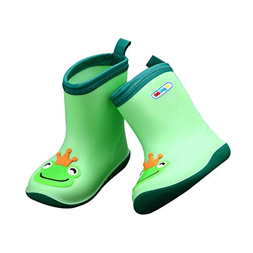 Toddler Children Candy Color Cartoon Animal Rain Boot. Soft Durable PVC Waterproof Warm Wellies for Little Kids, Boys & Girls.