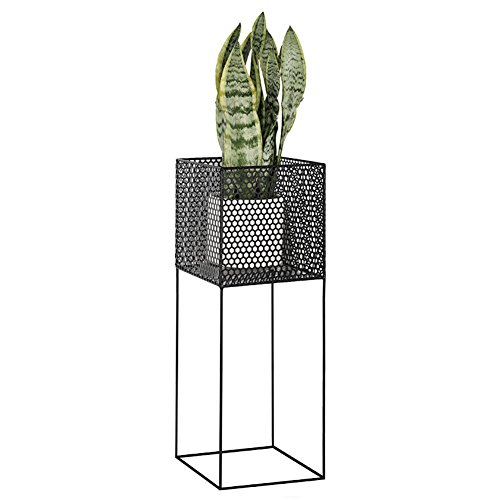 Home - Flower shelf ZWD Moderne minimalistische Landung Pot Rack, Eisen Net Eisen Kunst Indoor Wohnzimmer Schlafzimmer Multifunktions Regal fest schöne Haushaltswaren (Farbe : Black) -