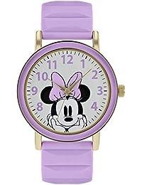 Minnie Mouse Reloj Analógico para Mujer de Cuarzo con Correa en Caucho MN9011
