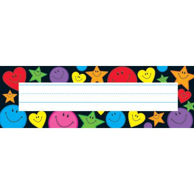36 x Stars, Hearts and Smiles Name Labels / Plates