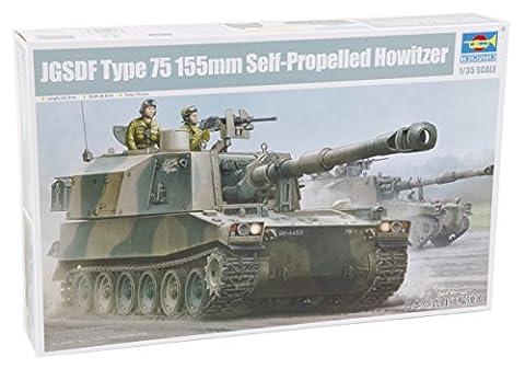 Trumpeter 05577–Modélisme Jeu de Jgsdf type 75155mm Self propelledhowitz