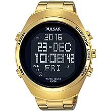 Pulsar Reloj Digital para Unisex de Analogico con Correa en Chapado en  Acero Inoxidable PQ2056X1 82576efd8a90