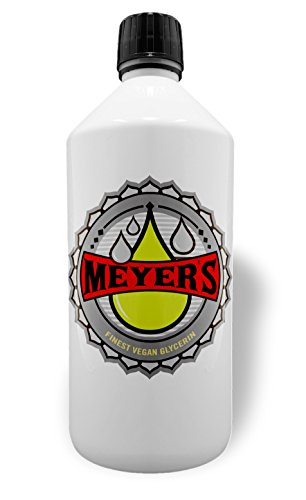 Meyer's veganes Glycerin Liquid Base 1Liter rein planzlich, Pharmaqualität 99,7% (Reines Glycerin)