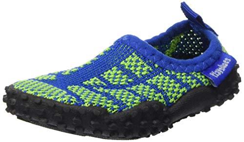 Playshoes Unisex-Kinder Strick Aqua Schuhe, (Blau/Grün 791), 32/33 EU