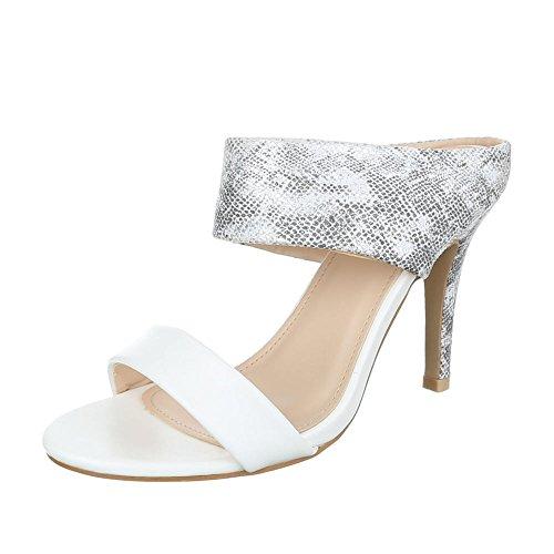 Ital-Design, Sandali donna Grigio/Bianco