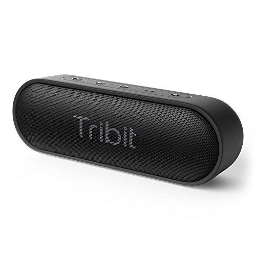 Bluetooth Lautsprecher, Tribit XSound Go Tragbarer Bluetooth Lautsprecher, 2 × 6W Kabelloser Lautsprecher mit sattem Bass, 24 Stunden Spielzeit, IPX7 Wasserdicht, 66FT Bluetooth Reichweite und eingebautem Mikrofon