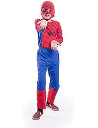FancyDressWale Spiderman Dress for Boys (Blue, 10-12 Years)