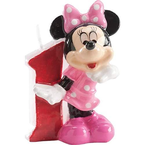Les Colis Noirs LCN - Bougie Minnie Disney Chiffre 1 - Décoration Gateau Anniversaire Gouter - 370