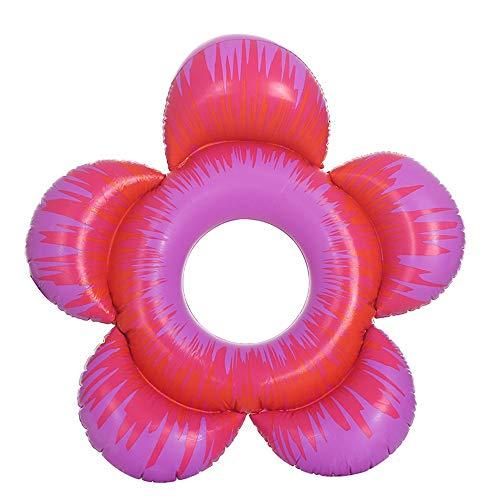 Zxllyntop-swim Aufblasbarer Schwimmring, Aufblasbare Blumen-Entspannungs-Pool-Floss-Sommerfest-Dekorations-Spielwaren Summer Beach Float Spielzeug (Farbe : Rot, Größe : Free Size) (Floß Blume)