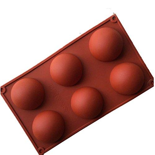 Lalang Grand 6 Demi-sphères Moule en Silicone, Plat à Four en Silicone antidérapant très résistant, gâteau de Cuisson