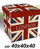 POUF LONDON 40 X 40 CM CONTENITORE LONDRA