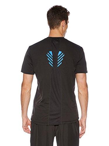 Puma PT Pure Tech Tee–Maglietta sportiva da uomo, Uomo, Trainingsshirt PT Pure Tech Tee, Nero - Black/victoria Blue, S Nero - Black/victoria Blue