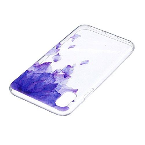 Cover iPhone X - Custodia in Silicone Morbida - Surakey iPhone X Custodia Trasparente TPU Crystal Clear Protettiva Bumper Sottile e Flessibile Back Skin Premium Gel Gomma Case Antigraffio Antiurto Pro Modello#20