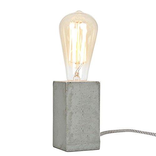 Lampe à poser bloc de ciment (H.11cm)