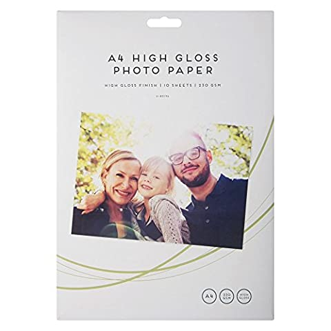 20 Sheets A4 High Gloss Photo Paper/2 Packs of 10