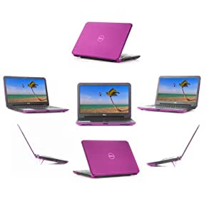 """iPearl mCover HARD Shell CASE for 15.6"""" Dell Inspiron 15 (3521 / 3527) and 15R (5521 / 5537) Laptop - Purple"""