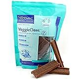 Virbac Veggiedent 15 Lamelles pour Chien de 10/30 kg Taille M