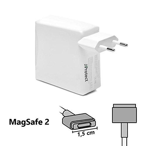 iProtect Ladegerät Netzteil 45 Watt für Apple MacBook mit MagSafe 2 2,5 Meter-Kabel Netzanschluss Weiß (Macbook Netzteil Air)
