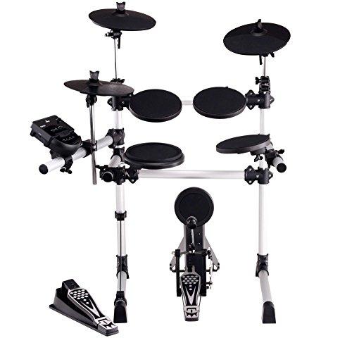 XDrum DD-430 E-Drum-Set (Komplett Set, 4 Drum Pads, 3 Cymbals, HiHat Pedal, Kick Pad mit Pedal, Crash- und Ride-Becken abstoppbar, LED, USB, MIDI, AUX, Kopfhöreranschluss)
