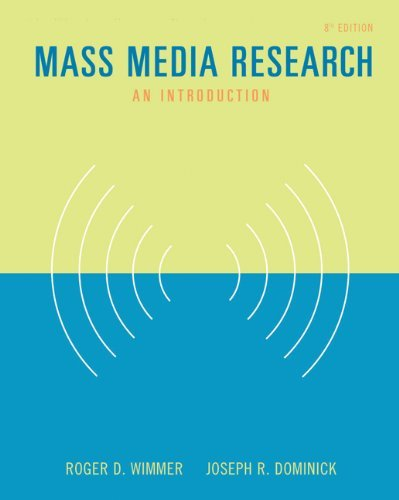 Mass Media Research: An Introduction (with InfoTrac) (Wadsworth Series in Mass Communication and Journalism) by Roger D. Wimmer (2005-03-22) par Roger D. Wimmer;Joseph R. Dominick