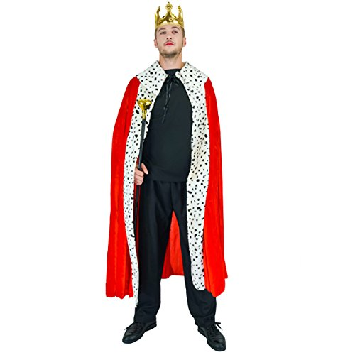 SEA HARE Luxury King Robe Kostüm für Erwachsene (King Kostüm Männer)