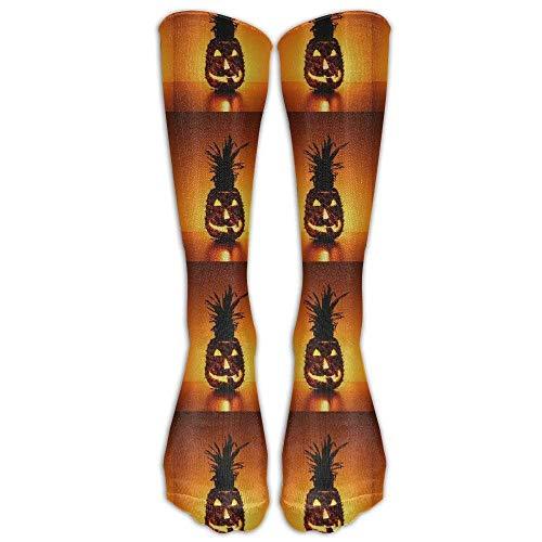 Funny Halloween Vampire PineappleKnee High Graduated Compression Socks for Women and Men - Best Medical, Nursing, Travel & Flight Socks - Running & Fitness (Socke Halloween Affe)