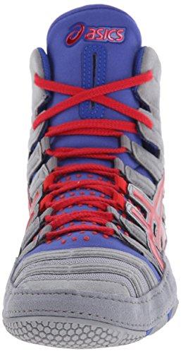 Asics - Herren Sportstyle Dan Gable ultimative 3 Schuhe In Weiß / Schwarz / Rot Gray/Red/True Blue