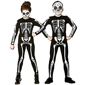 Kinder Unisex Skelett Jumpsuit Halloween Fancy Dress Größe Large (8-10 Jahre) (Kinder Halloween Fancy Dress)