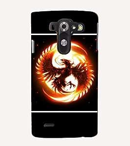 Takkloo Eagle wild bird,sunshine, black background, flying wings) Printed Designer Back Case Cover for LG G3 Mini