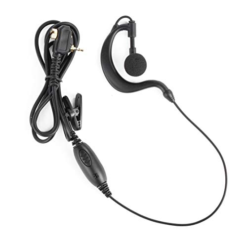LouiseEvel215 1 Pin Auricular Auricular PTT para Motorola Walkie Talkie MTP850 MTH800 MTH650 Radio de jamón portátil Clip en Forma de G Micrófono Auricular -
