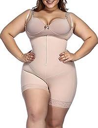 13645e6e7c6 FeelinGirl Mujer Faja Reductora sin Costura Corsé Bustier Ajustable  Cremallera Shapewear