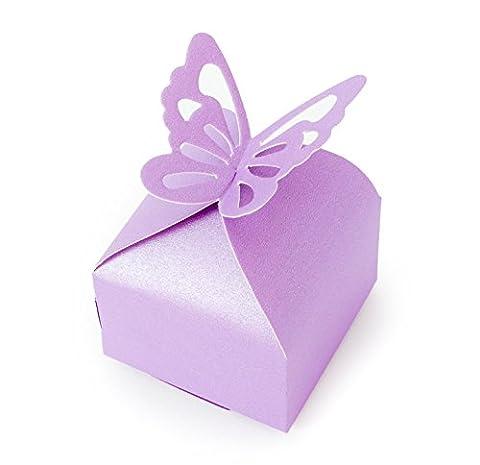 'missbirdler 12boîtes cadeau Violet élégant poches Boîte Carton Emballage cadeau