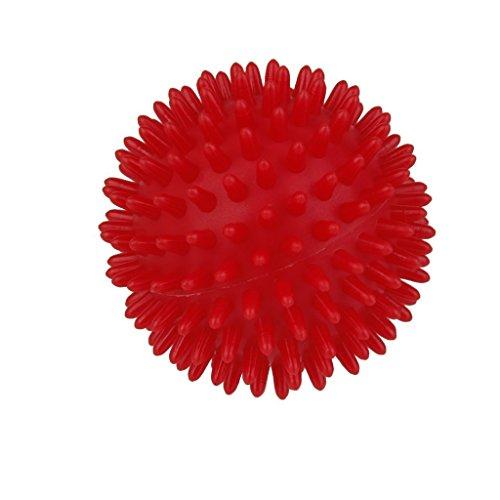 Massage-tools Rücken Den Für (Kingstons rot Spiky Massage Ball Füße Arm Hals, Rücken Stress Relief Roller)