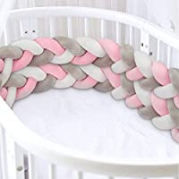 Luchild Braided Crib Bumper, 78.7 inch/2m Baby Cot Bumper, Crib Bumper Wrap Around Protection 100% Cotton Bed Sleep Bumper for Newborns Baby Kids
