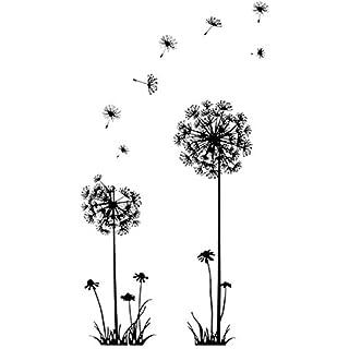 Wandtattoo Pusteblume Schmetterling Löwenzahn Wohnzimmer Wandaufkleber  Wandsticker Wanddekoration Schlafzimmer Kinderzimmer Pflanzen Wiese Blumen
