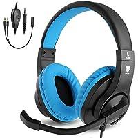BlueFire Cascos Gaming ps4 con Microfono,Auriculares de Diadema con Sonido Envolvente y Cancelacion Ruido
