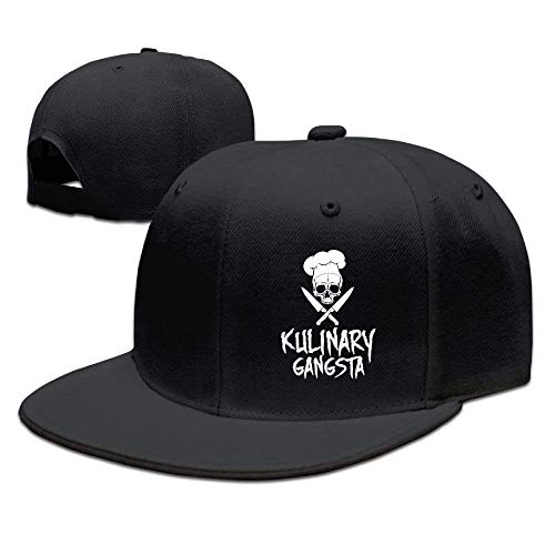 Zhgrong Caps Skull Chef Cooking Skull Snapback Hats for Men Funny Flat Bill Hats Fitted Hats for Men hat