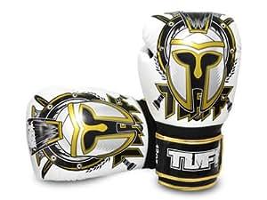 TUFF muay thai gants de boxe: 8 oZ (gLADIATOR blanc tUF génétiquement gLADIATOR-blanc)