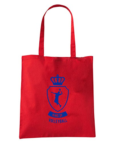 T-Shirtshock - Borsa Shopping SP0104 King of Volleyball Maglietta Rosso