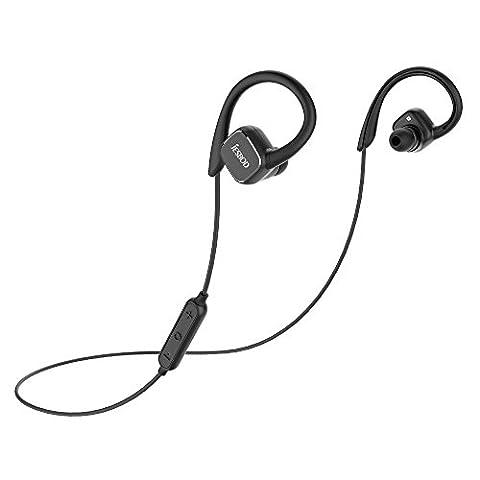 Écouteurs Bluetooth, JESBOD QY13 Oreillette Bluetooth Magnétique Casque de Sport Sans Fil Bluetooth Stéréo Écouteurs Intra-auriculaires Avec Micro intégré Pour IPhone Et D'autres Appareils Bluetooth (Noir)