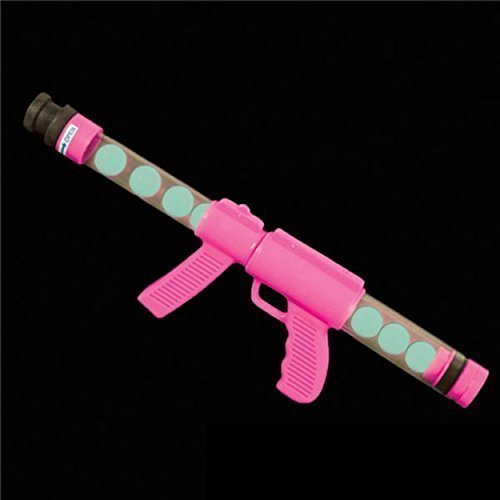 Deluxe Glow Pink Ping Pong Ball Shooter Moon Blaster Gun by Rhode Island Novelty