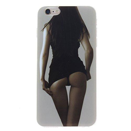 Nancen Apple iphone 6 Plus / 6S Plus (5,5 Zoll) Ultra Slim Weich TPU Material Design Silikon Handytasche Schutzhülle, Painted Mode Anti-Kratz Handyhülle Case Hülle Backcover Tasche (Mode Bottoms Apple)