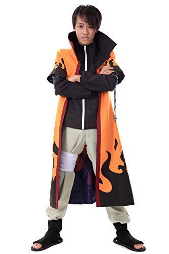 De-Cos Naruto Shippuden Uzumaki Naruto Rokudaime 6th Hokage Outfit (Hokage Kostüm Naruto)