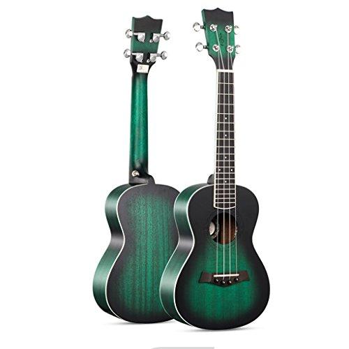 LINGZHIGAN Grüne Mahagoni Ukulele 30 Zoll Rim kleine Gitarre Anfänger Geschenk Unisex