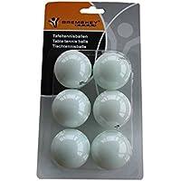 Tunturi Tabletennis Pelotas Ping Pong (6 Piezas) Blancas, Unisex Adulto, White, 1