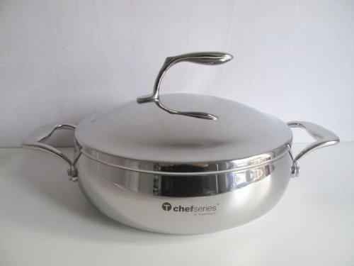 TUPPERWARE Chef Serie Gourmet Linie Brat- und Servierpfanne Kasserolle 2,8 L Topf by Tupperwware Tupperware Topf